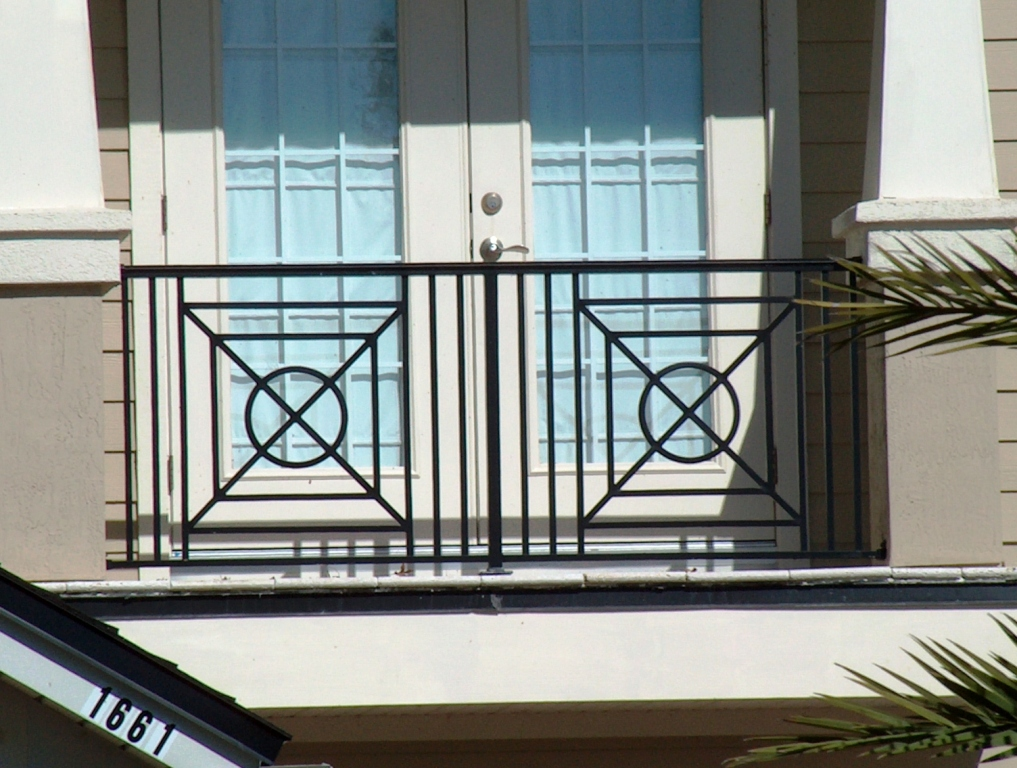 Image of: aluminum porch railing designs