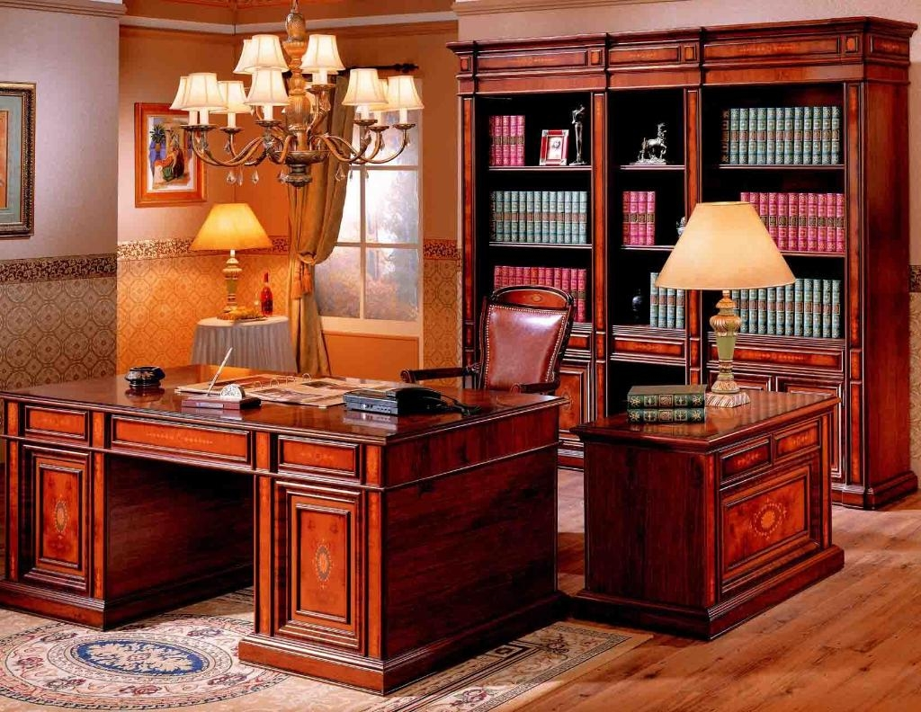 Image of: antique library table chicago