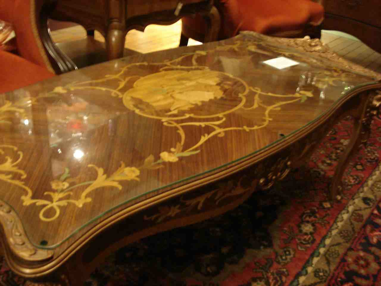 Image of: antique library table designs