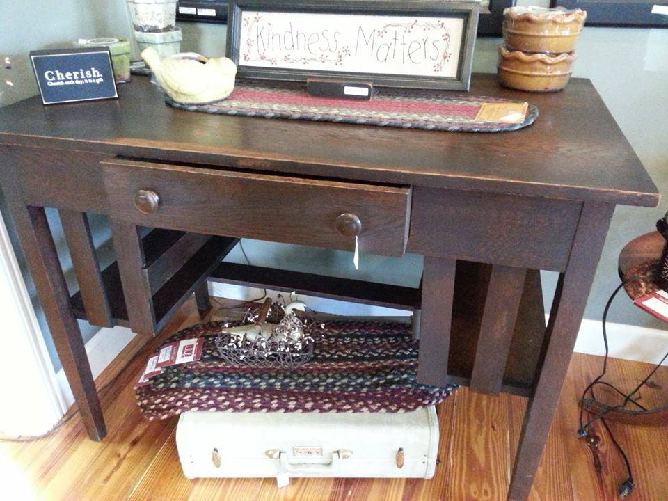 Image of: antique library table desk