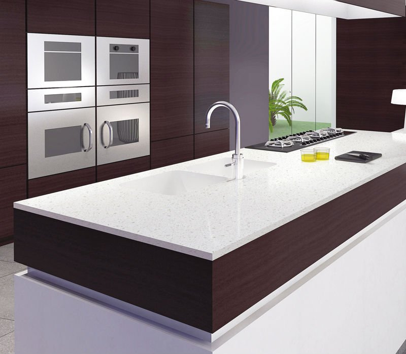 Image of: artificial marble kitchen countertops