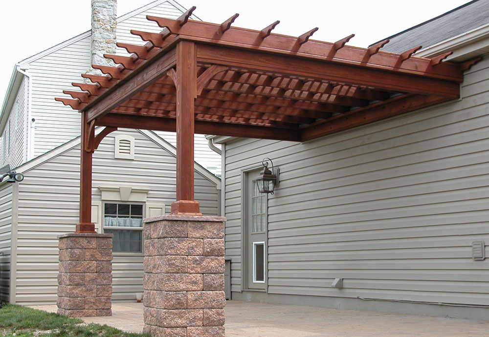 Image of: attached arbor designs