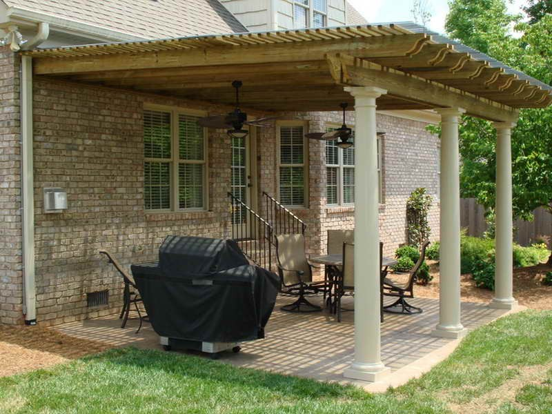 Image of: back porch cover ideas