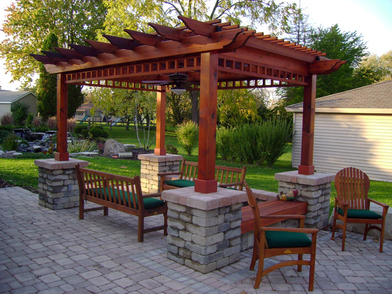 backyard arbor designs
