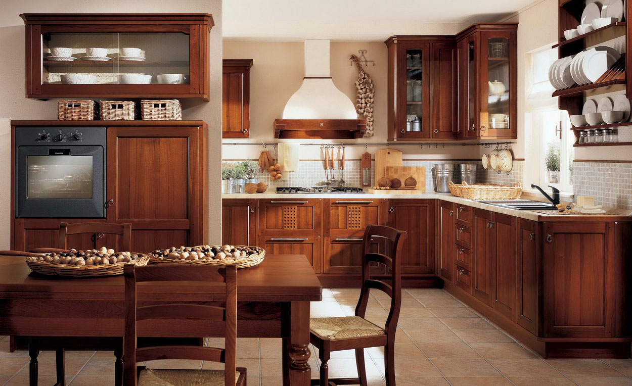 Image of: beautiful traditional kitchen designs