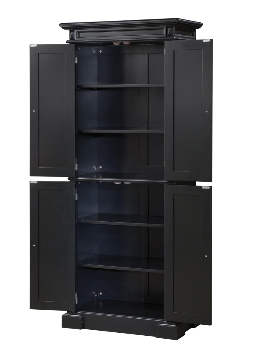 Image of: black kitchen pantry furniture