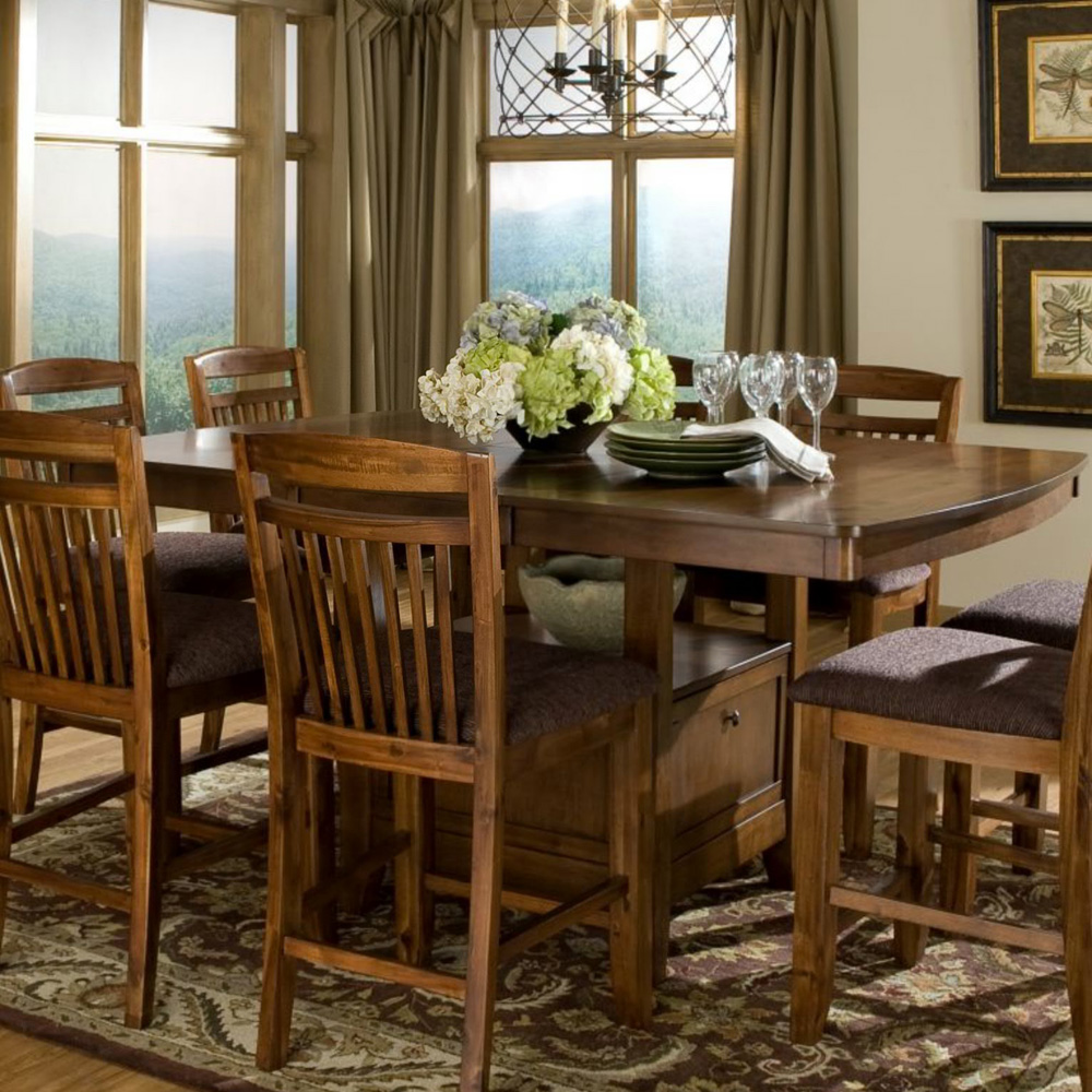 butterfly leaf dining room table