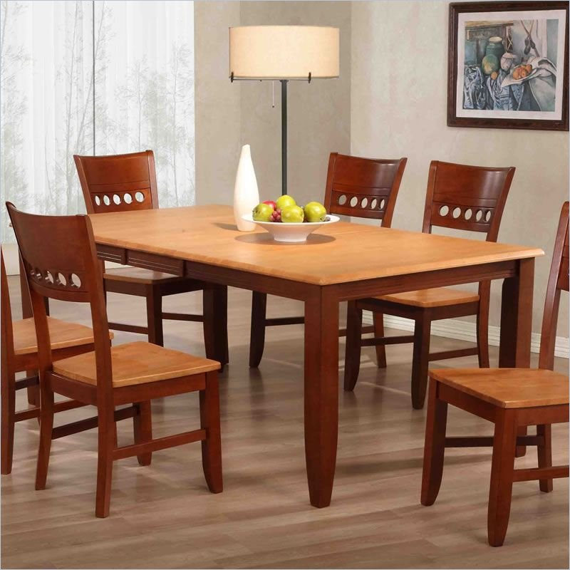 Image of: butterfly leaf dining table