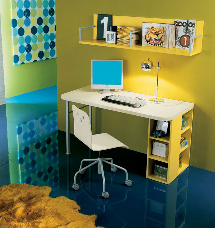 Image of: computer desk organization ideas
