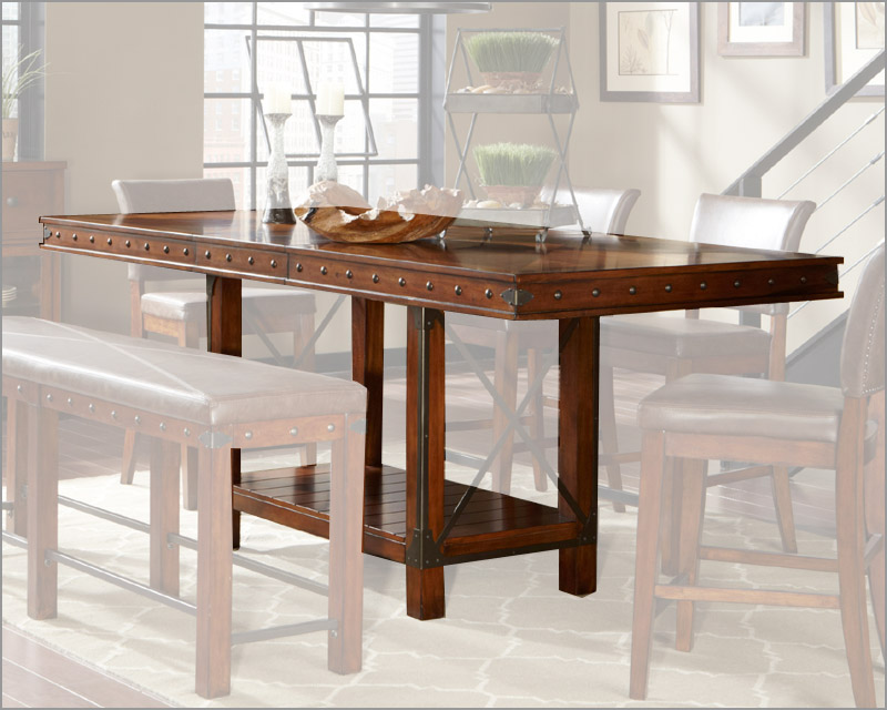 Image of: counter high kitchen table and chairs