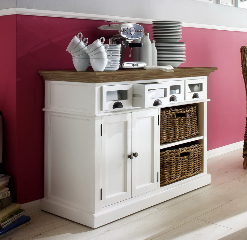 Image of: country kitchen buffet cabinet