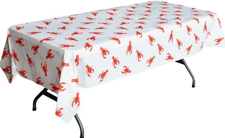 crawfish table cloth