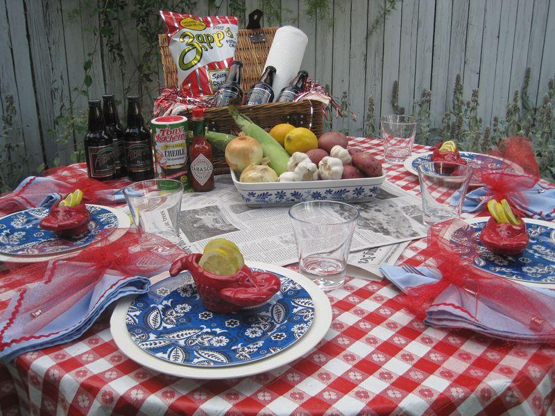 crawfish table decorations