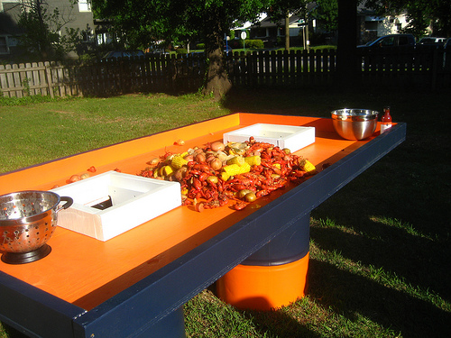 Image of: crawfish table top