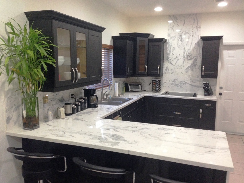 Image of: cultured marble kitchen countertops