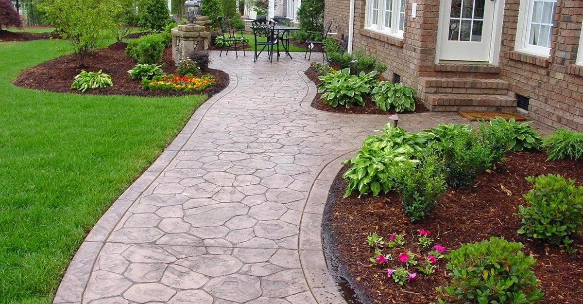 Image of: decorative concrete borders