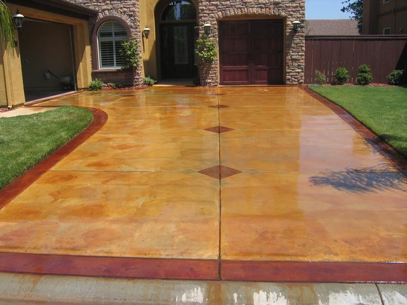 Image of: decorative concrete coatings