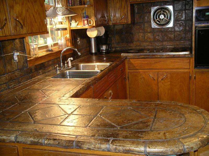 Image of: decorative concrete kitchen