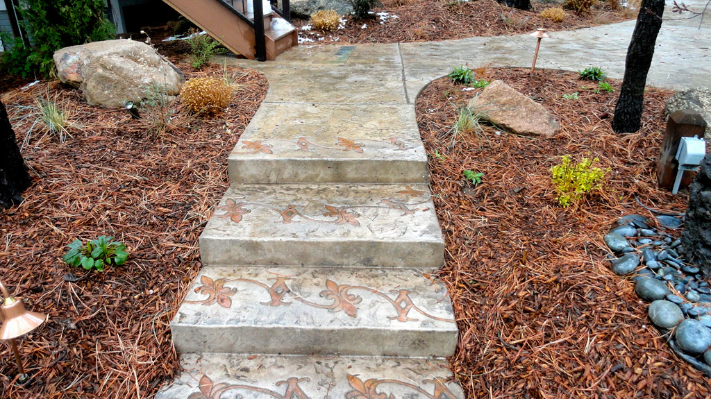 Image of: decorative concrete wall forms