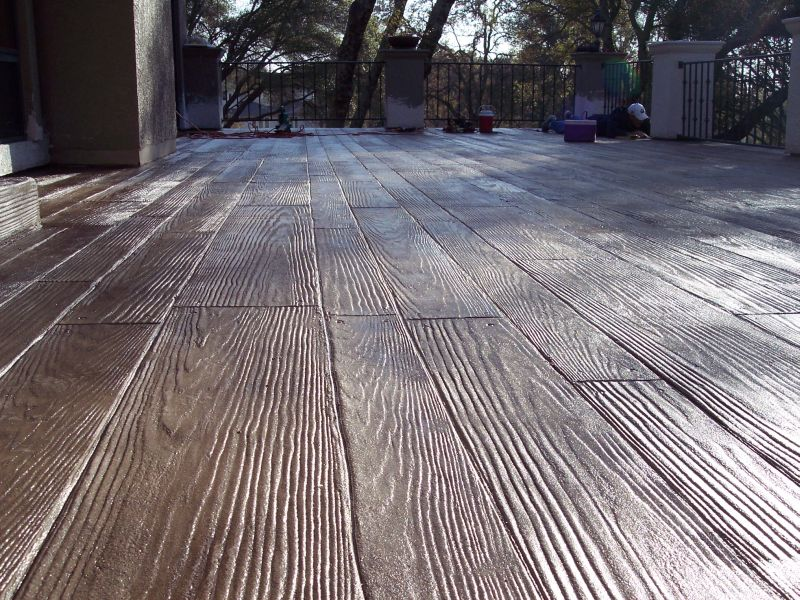 Image of: decorative concrete wooden