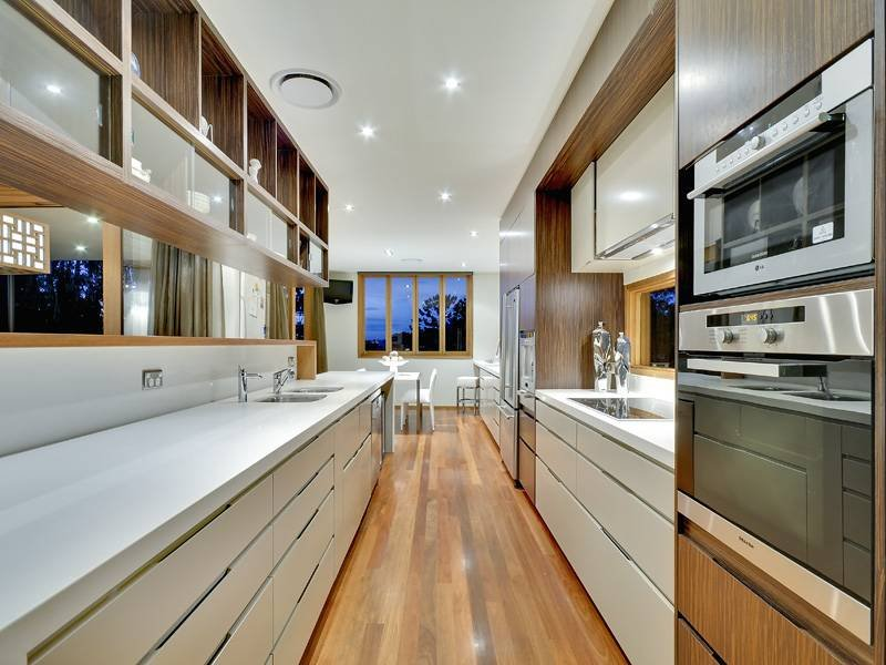 Image of: designing a galley kitchen