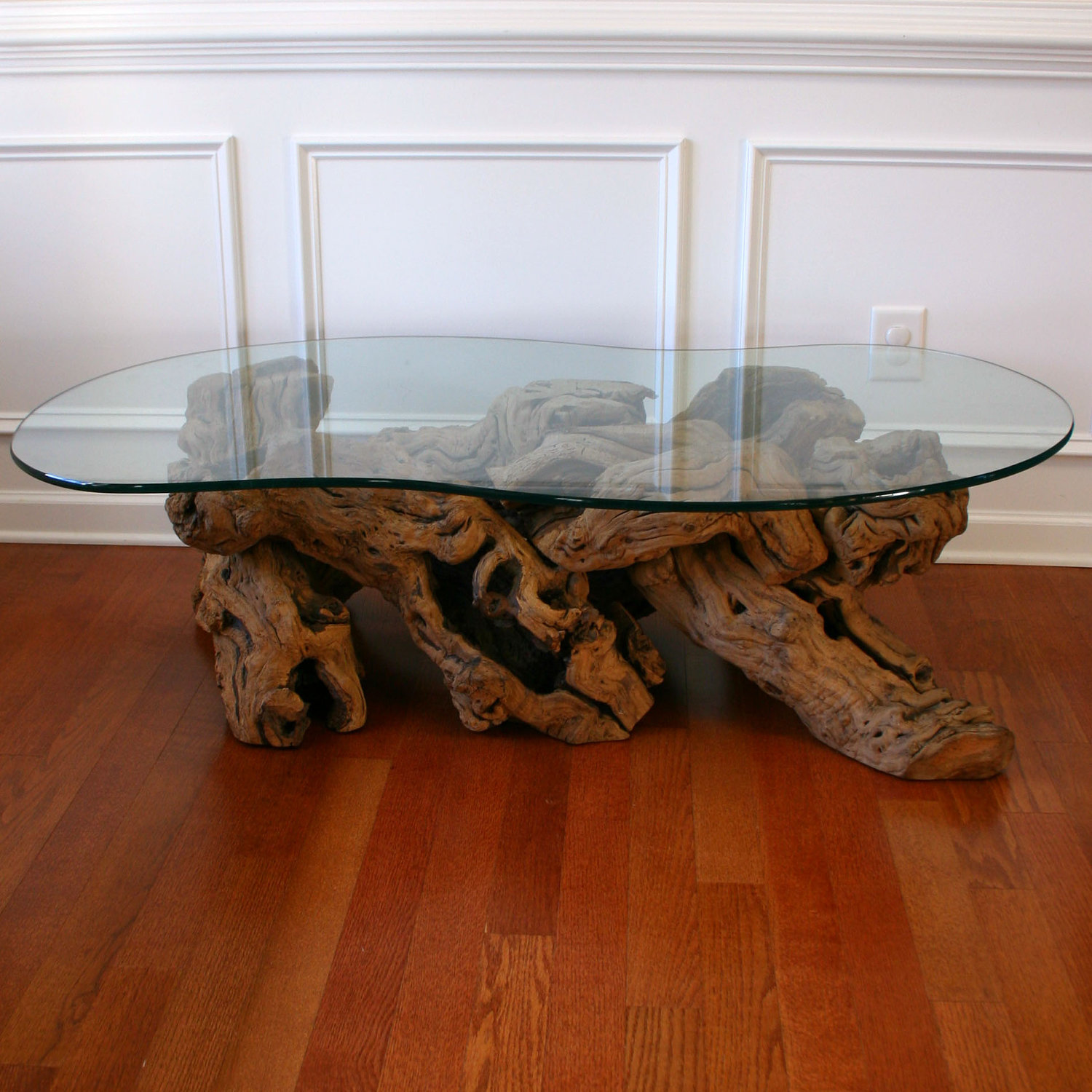 Image of: driftwood dining table