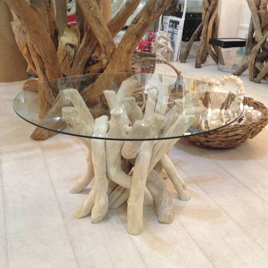 Image of: driftwood table