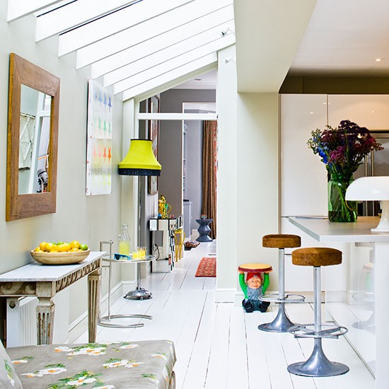 Image of: eclectic white kitchens