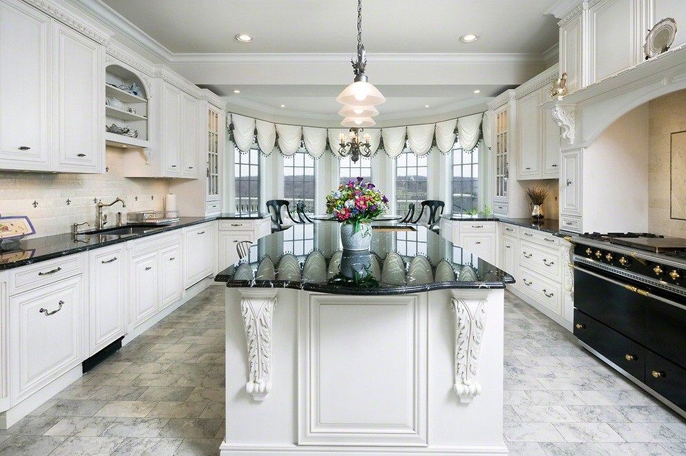 Image of: expensive white kitchens