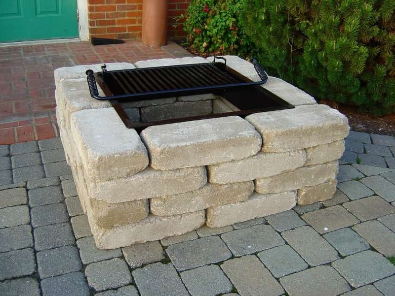 Image of: fire pit designs diy
