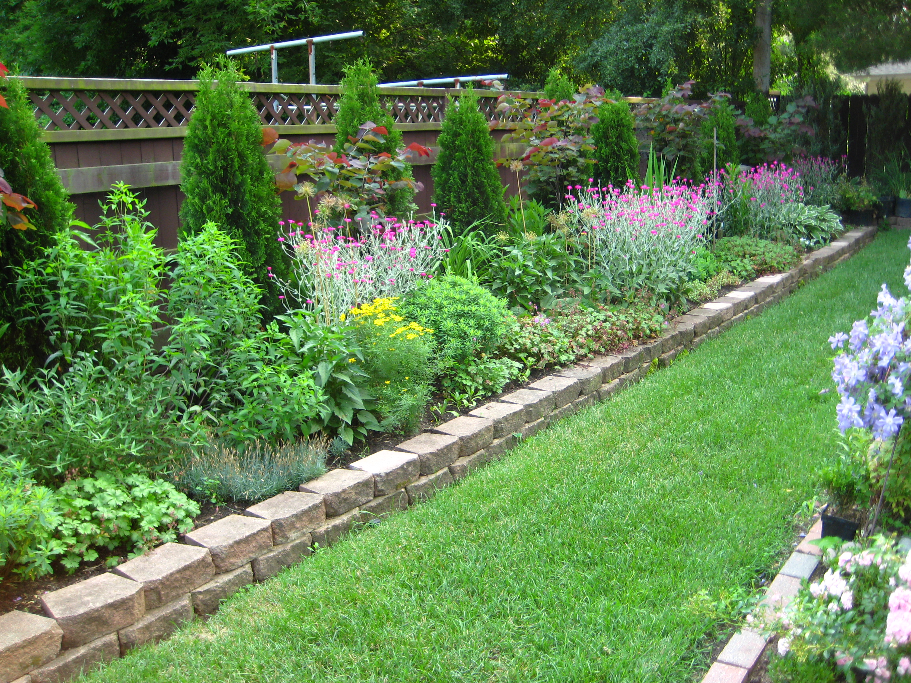 Image of: flower bed border designs