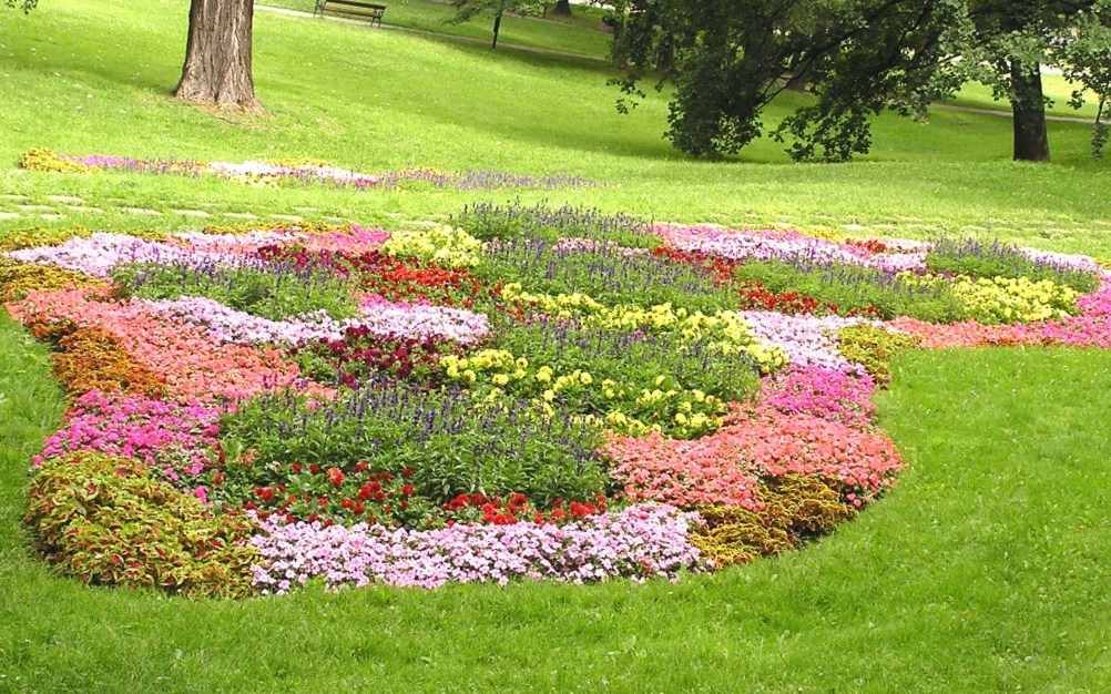 Image of: flower bed designs on a slope
