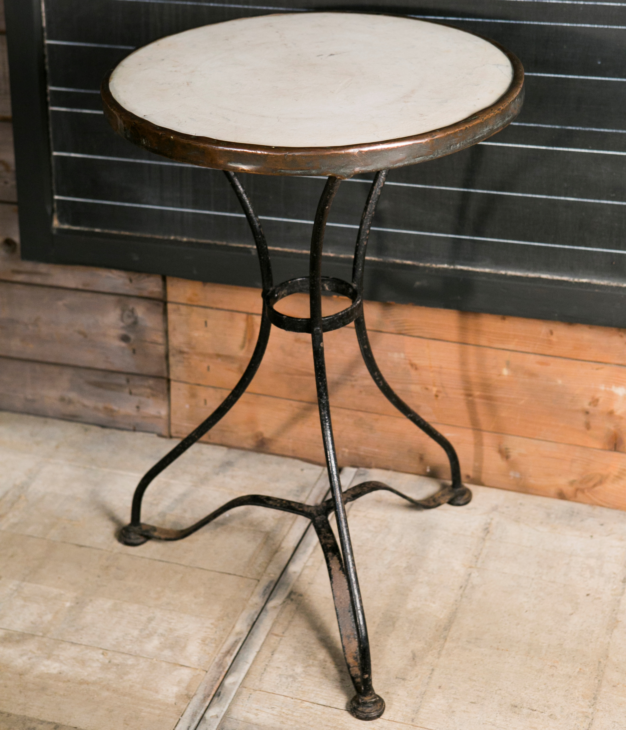 Image of: french marble bistro table