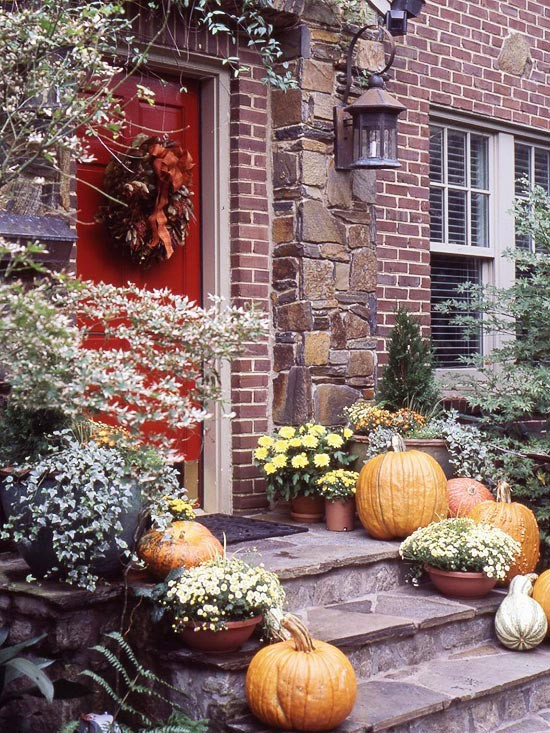 front porch decorating ideas autumn