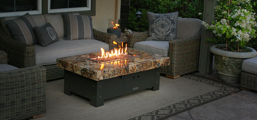 gas fire pit table and chairs