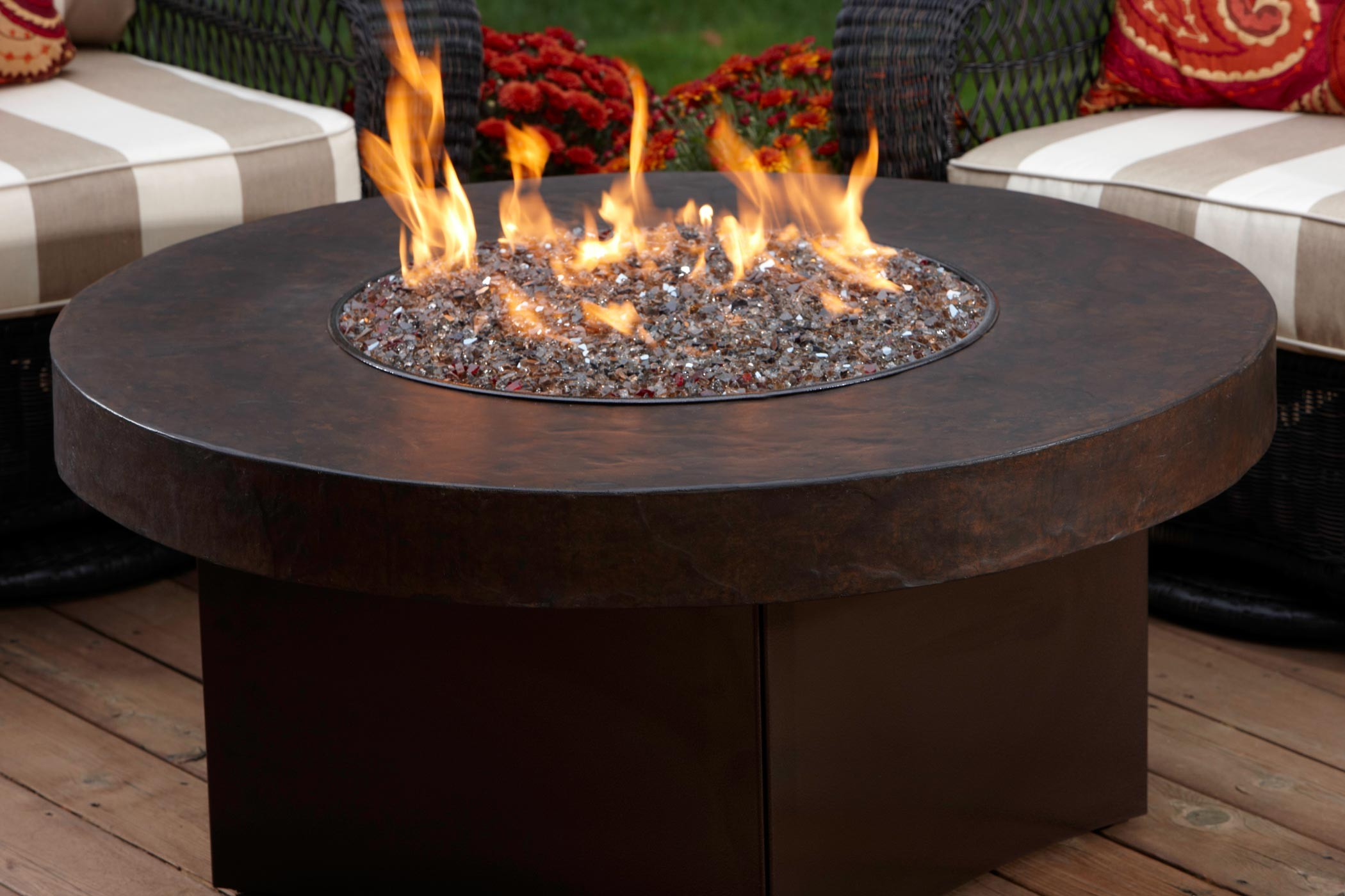 Image of: gas fire pit table