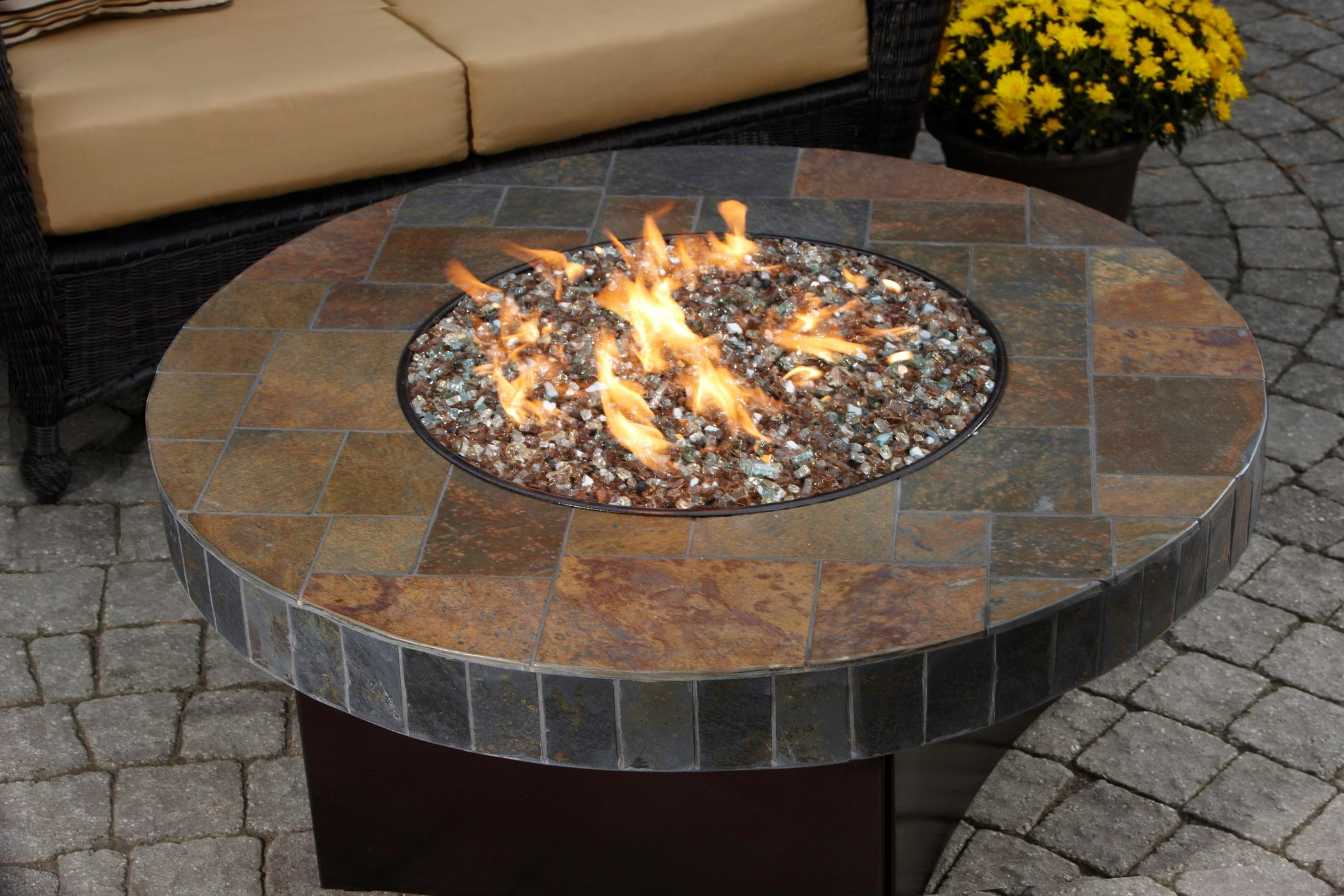 Image of: gas fire pit tables