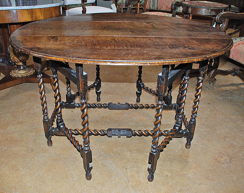Image of: gate leg dining table
