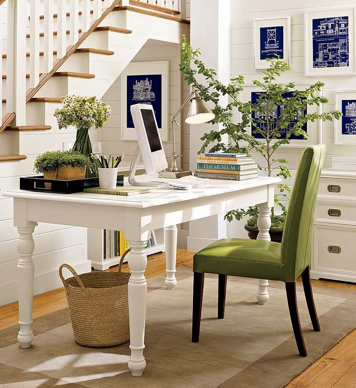 Image of: home office desk organization ideas