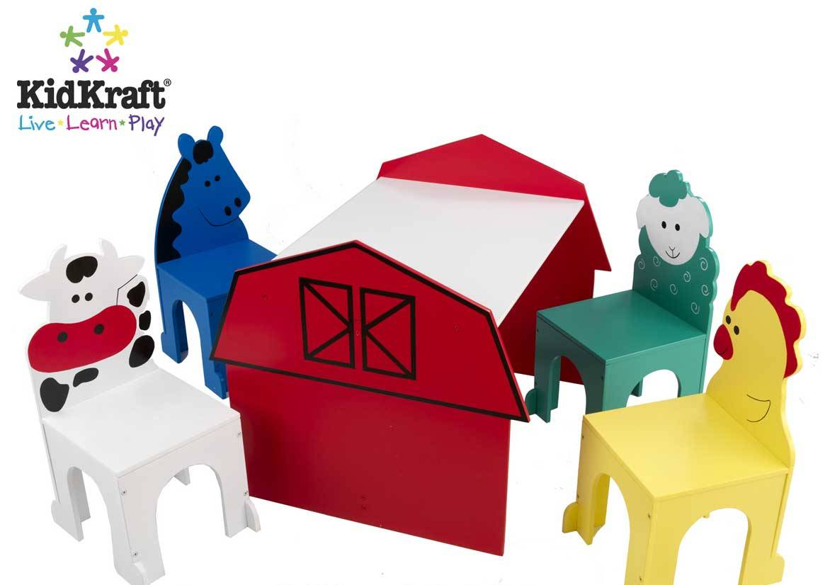 Image of: kidkraft barnyard table and chair set