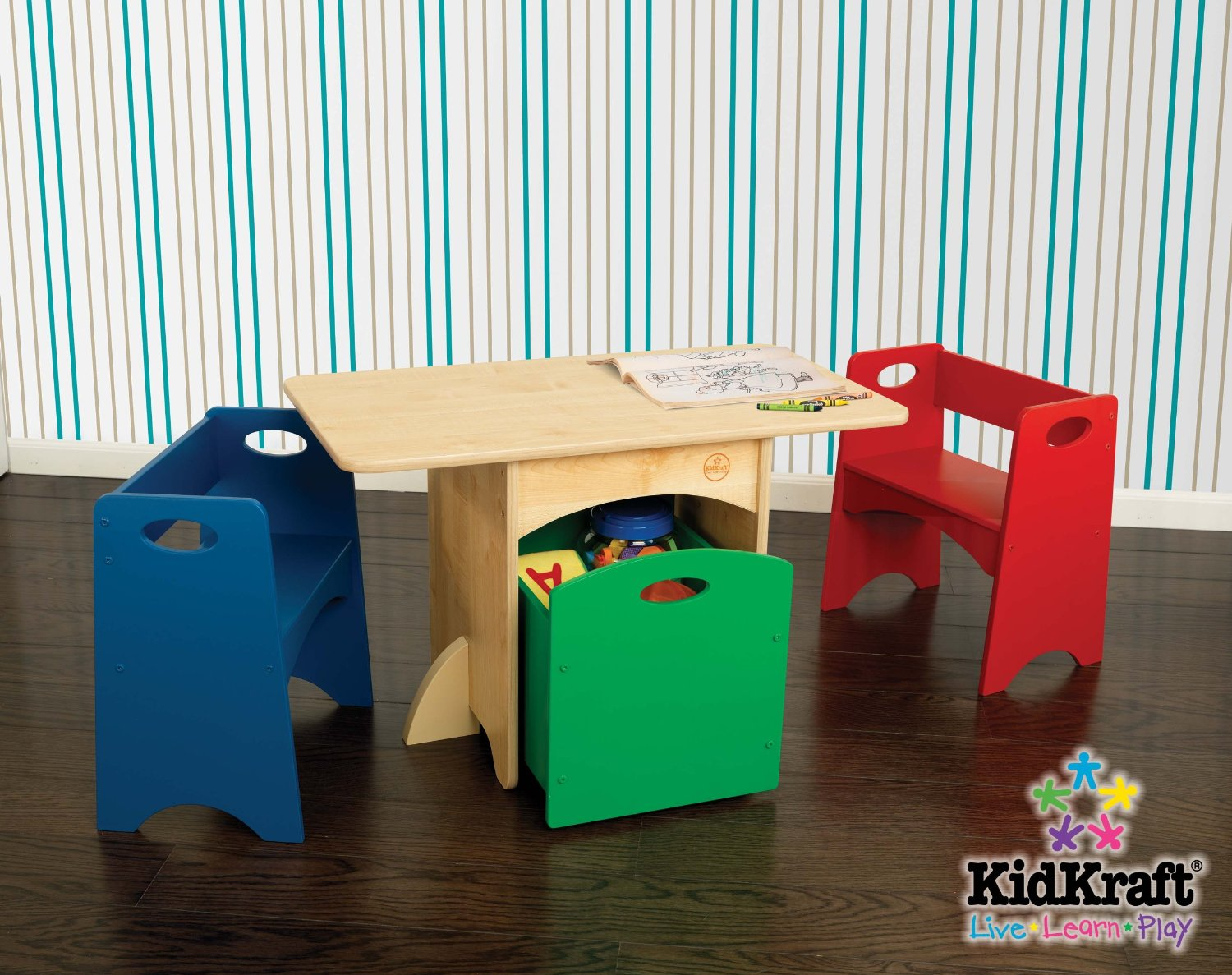 Image of: kidkraft table with primary benches