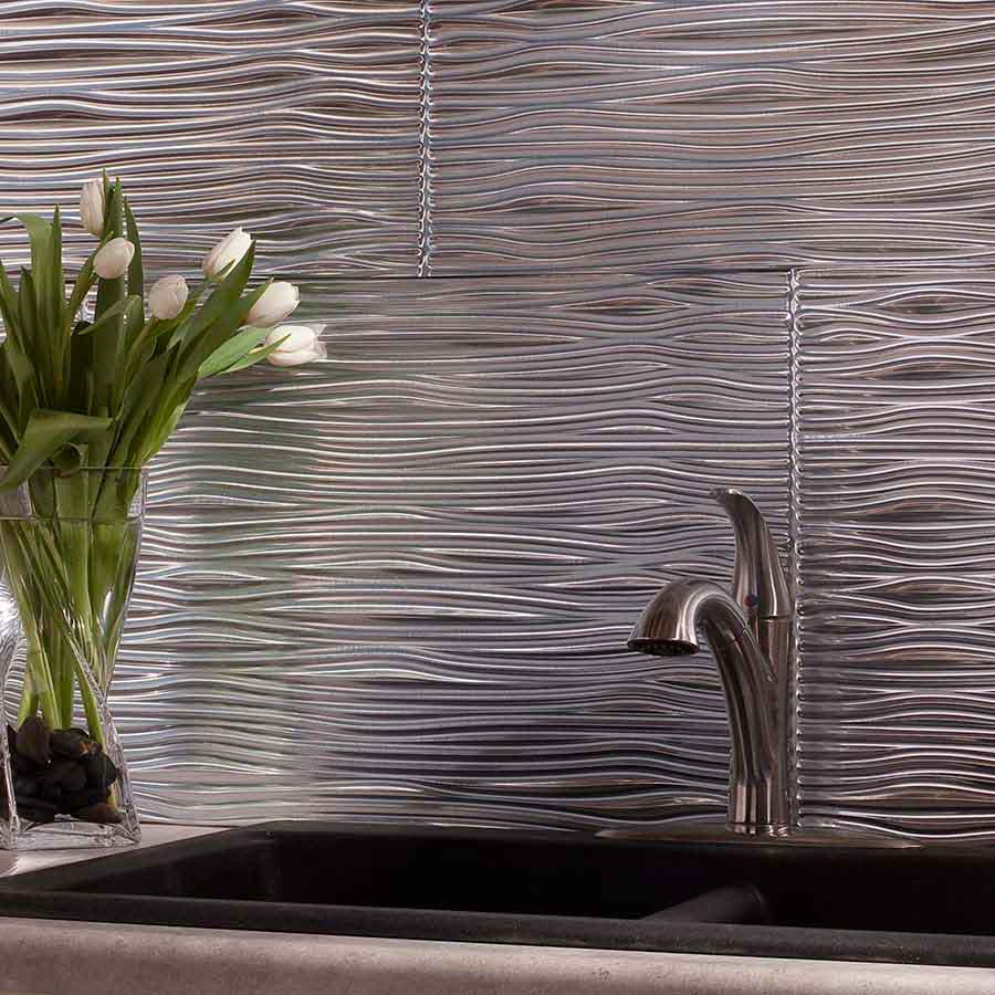 Image of: kitchen backsplash aluminum