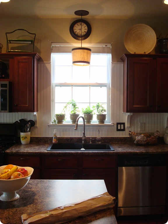 Image of: kitchen backsplash around window images