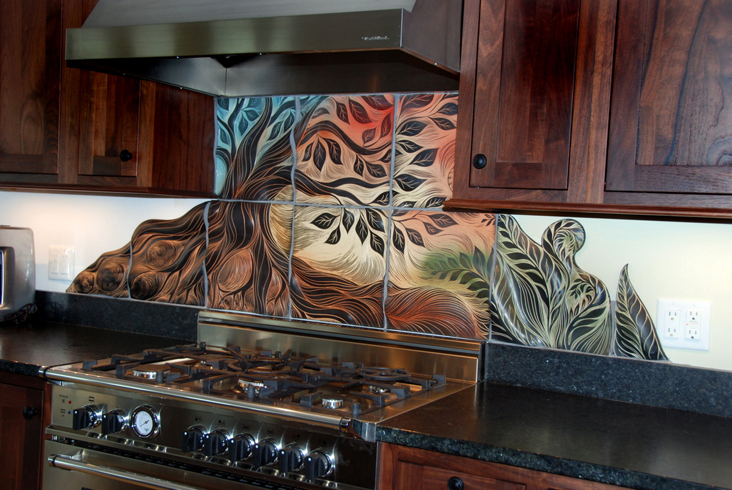 kitchen backsplash art ideas