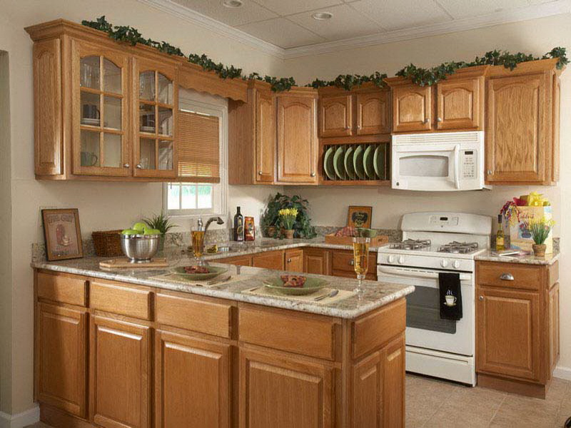 Image of: kitchen decorating ideas for above cabinets