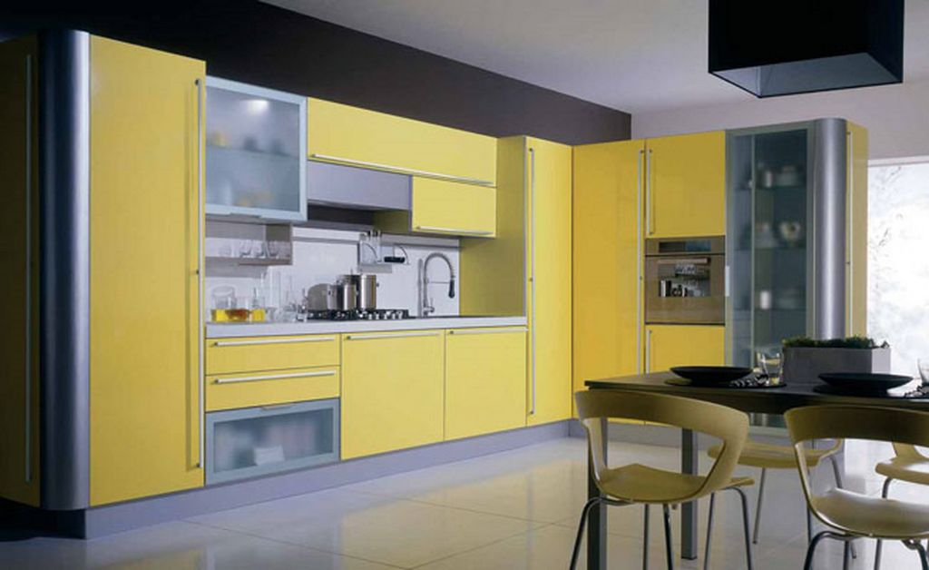 Image of: kitchen decorating ideas yellow
