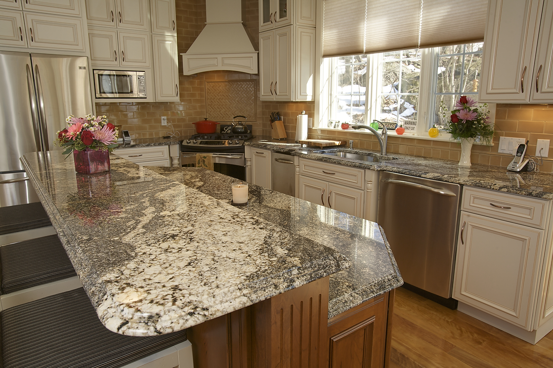Image of: kitchen granite bar