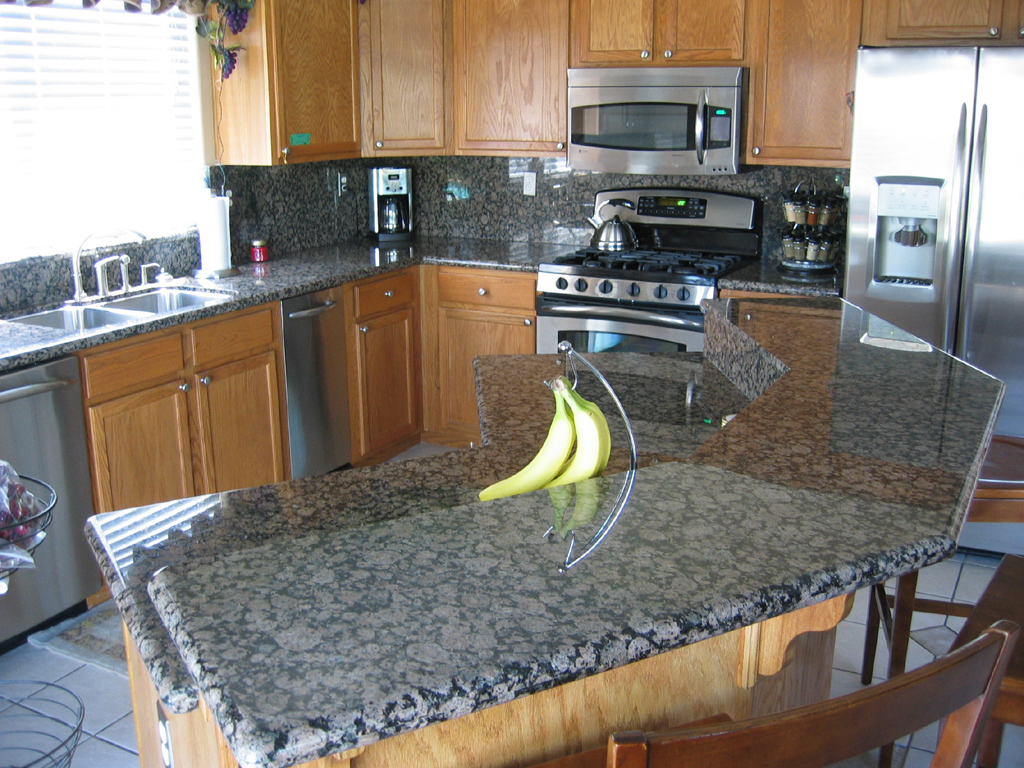 Image of: kitchen granite countertop ideas