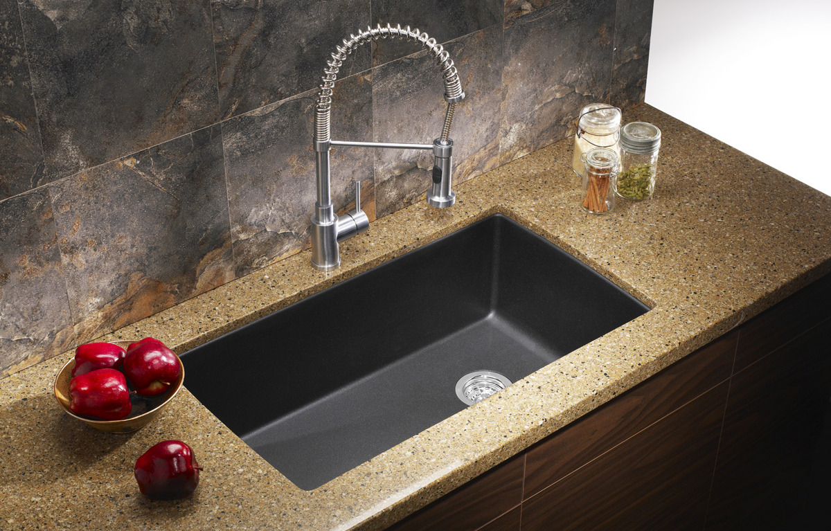Image of: kitchen granite sinks