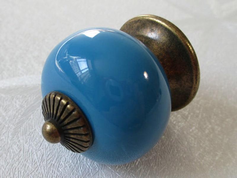 kitchen knobs blue